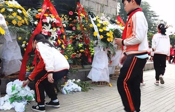 """""""学英雄 祭先烈 争做有为少年""""广水书生学校举办清明节主题活动"""